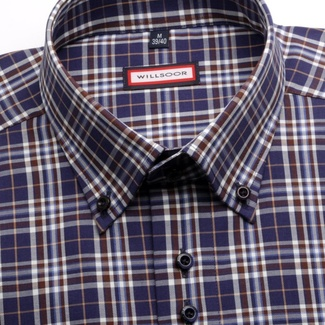 Men shirt WR Slim Fit in blue color with checked pattern (height 176-182) 4469