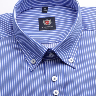 Men shirt WR London in blue color with strip (height 176-182) 4476