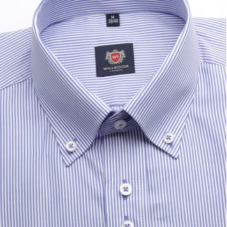 Men shirt WR London in violet color with strip (height 176-182) 4478