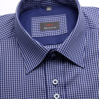 Men shirt WR Slim Fit in blue color with fine checked (height 176-182) 4531