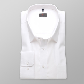 Men shirt WR Classic in white color (height 176-182 I 188-194) 4572, Willsoor