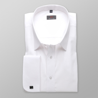 Men shirt WR Classic in white color (height 176-182 I 188-194) 4573