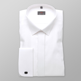 Men shirt WR Slim Fit in white color (height 176-182) 4577, Willsoor