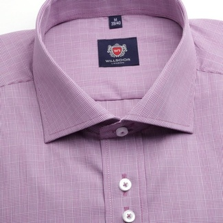 Men shirt WR London in purple color with pattern dice (height 176-182) 4646