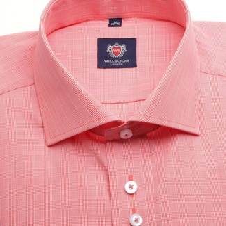Men shirt WR London in orange color with pattern dice (height 176-182) 4647