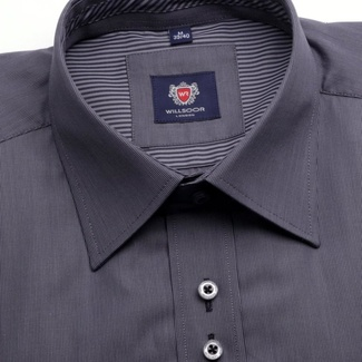 Men shirt WR London in graphite color with strip (height 188-194) 4658