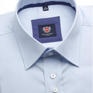 Men shirt WR London, slim fit in blue color with fine strip (height 176-182) 4691