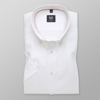 Men shirt WR London slim fit with short sleeve in white color (height 176-182) 4795