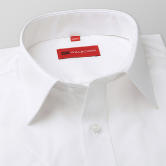 Men shirt WR Slim Fit with short sleeve in white color (height 176-182) 4797