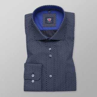 Men shirt WR London in black color with blue florets (height 176-182) 4799