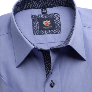 Men shirt WR London with short sleeve in blue color (height 176-182) 4805