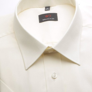 Men shirt WR Slim Fit with short sleeve in ecru color (height 176-182) 4856