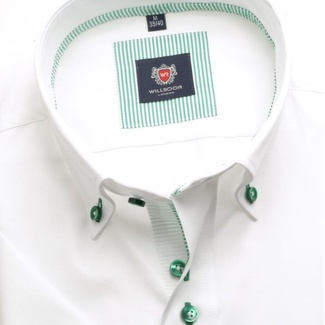 Men shirt WR London with short sleeve in white color (height 176-182) 4911