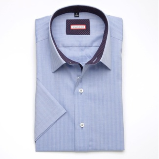 Men shirt WR Slim Fit with short sleeve in blue color a