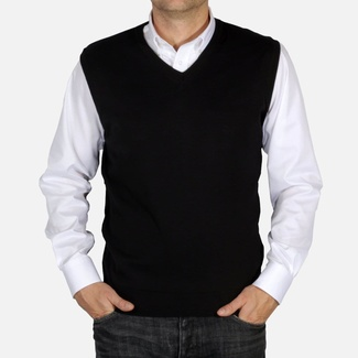 Men knitted vest Willsoor 5029 in black color