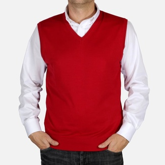Men knitted vest Willsoor 5030 in claret color