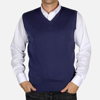 Men knitted vest Willsoor 5031 in blue color