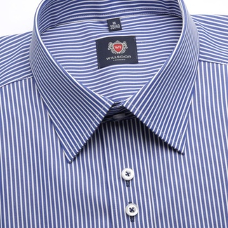 Men shirt WR London in blue color with white strip (height 176-182) 5049