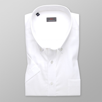 Men shirt WR Classic with short sleeve in white color (height 176-182) 5055