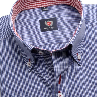 Men shirt WR London in blue color with checked (height 198-204) 5101