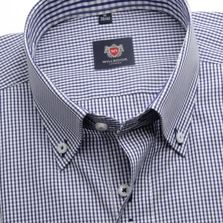 Men shirt in white color with checked WR London (height 198-204) 5107