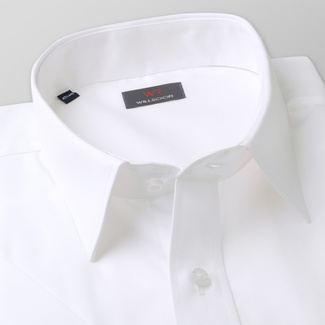 Men shirt with short sleeve in white color WR Classic (height 176-182) 5113