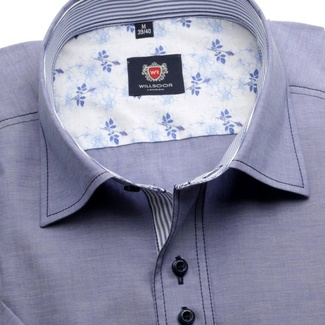 Men shirt WR London with short sleeve in blue color (height 176-182) 5130