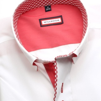 Men shirt WR Classic with short sleeve in white color (height 176-182) 5132