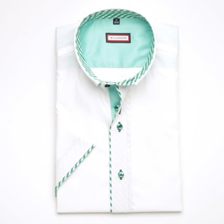 Men shirt WR Slim Fit with short sleeve in white color (height 176-182) 5133