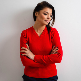 Women's sweater Willsoor 5144 in red color