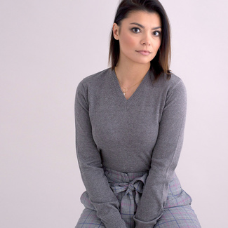 Women's sweater Willsoor 5146 in gray color