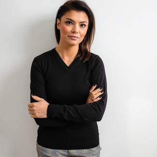 Women's sweater Willsoor 5202 in black color