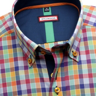 Men shirt WR Slim Fit with color checked pattern (height 176-182) 5236