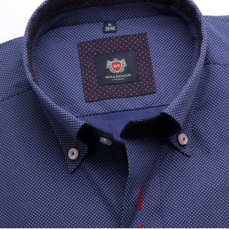 Men shirt WR London in blue color with dots (height 176-182) 5295