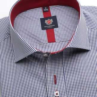 Men shirt WR London in blue color with checked (height 176-182) 5298