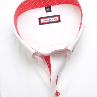 Men shirt WR Classic in white color (height 164-170) 5324