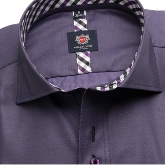 Men shirt London in purple color (height 176-182) 5442