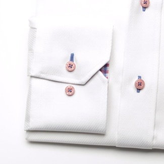 Men shirt London in white color (height 176-182) 5444, Willsoor