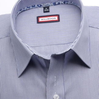 Men shirt Classic in blue color with strips (height 176-182) 5458