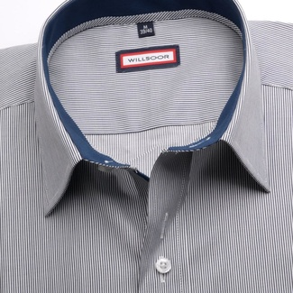 Men shirt Classic in blue color with strips (height 176-182) 5460