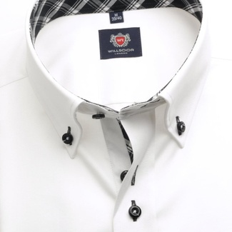 Men shirt London (height 176-182) 5472 in white color