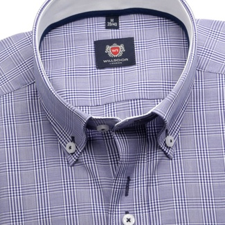 Men shirt London in violet color (height 176-182) 5492