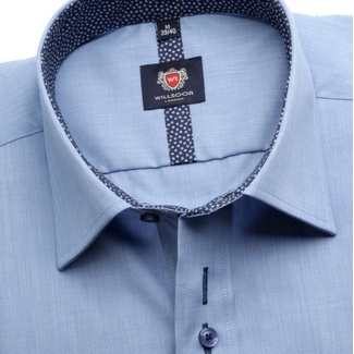 Men shirt London in blue color (height 164-170) 5515