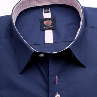 Men shirt London in blue color (height 176-182) 5516