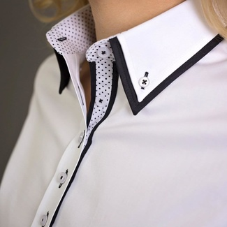 Women shirt Willsoor 5522 in white color, Willsoor