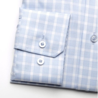 Men shirt Slim Fit in blue color with white checked (height 176-182) 5533