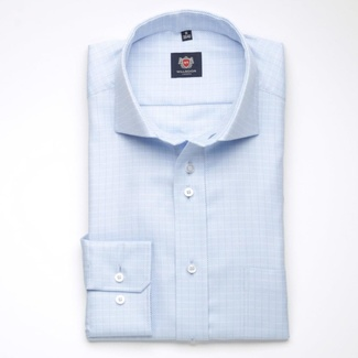 Men shirt London in blue color (height 176-182) 5554