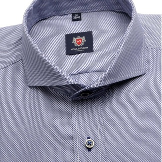 Men shirt London in gray-blue color (height 176-182) 5559