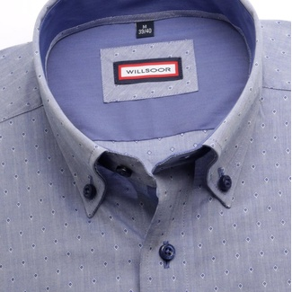 Men shirt Classic in blue color (height 176-182) 5580