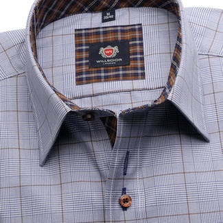 Men shirt London in blue color with checked (height 176-182) 5597